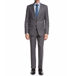 Fresco Wool Two-Piece Travel Suit by Boss Hugo Boss in Quantico