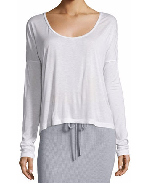 Long-Sleeve Jersey Scoop-Neck Tee by T by Alexander Wang in Keeping Up With The Kardashians