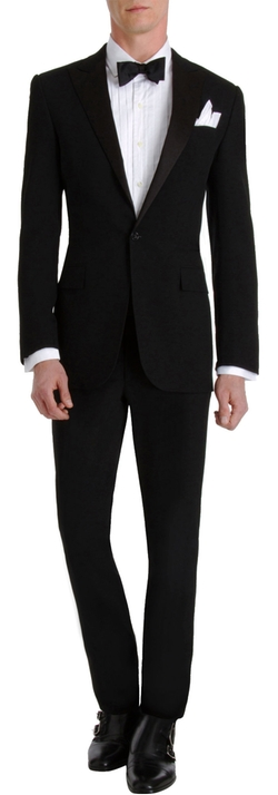 "Silk Peaked Lapel ""Anthony"" Tuxedo Suit by Ralph Lauren Black Label in Mission: Impossible - Rogue Nation"