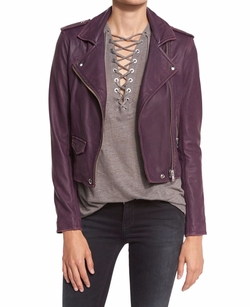 Ashville Cropped Leather Jacket by Iro in Shadowhunters