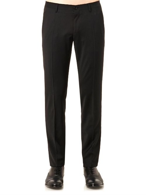 Slim-Leg Tailored Trousers by Dolce & Gabbana in Entourage