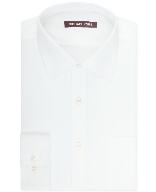 Solid Sateen Dress Shirt by Michael Kors in Unfinished Business