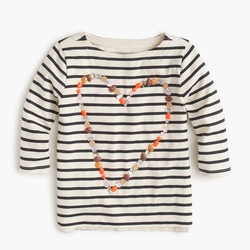 Girls' Embellished Heart Long Sleeve T-Shirt by J.Crew in Modern Family