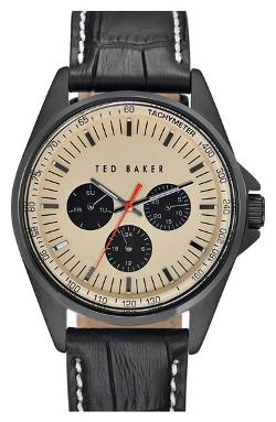 London Multifunction Round Embossed Leather Strap Watch by Ted Baker in The Other Woman