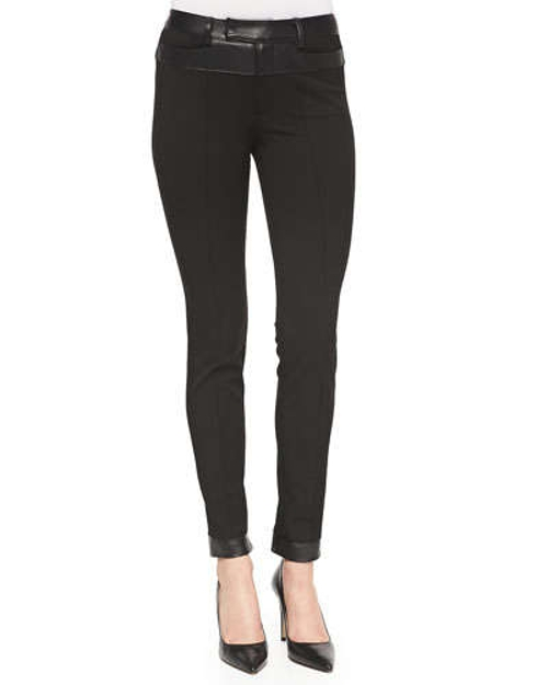 Trick Rider Skinny Leather-Trim Pants by Nanette Lepore in The Last Witch Hunter