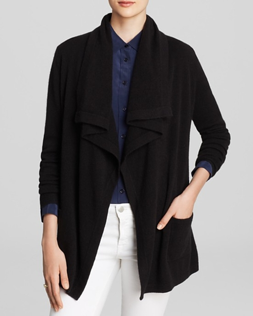 Basic Cashmere Cardigan by C by Bloomingdale's in Nightcrawler