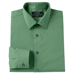 Stretch Spread-Collar Dress Shirt by Apt. 9 in The A-Team