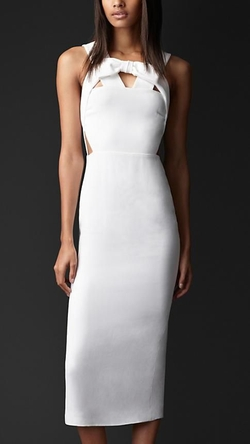 Bow Front Cut-Out Dress by Burberry Prorsum in Suits