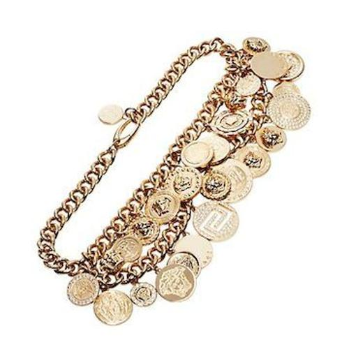 Golden Charms Chain Necklace by Versace in The Other Woman
