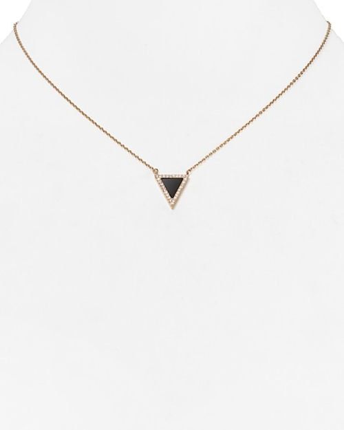 Triangle Pendant Necklace by Michael Kors in Entourage