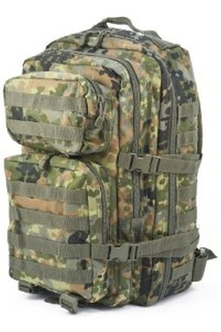 Military Army Patrol Molle Assault Pack Tactical Combat Rucksack Backpack Bag 36L Flecktarn Camo by Mil-Tec in The Gunman