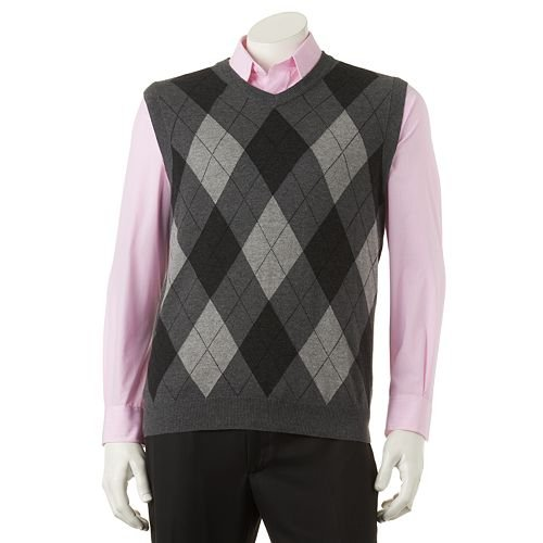 Lightweight Argyle Sweater Vest by Croft & Barrow in That Awkward Moment