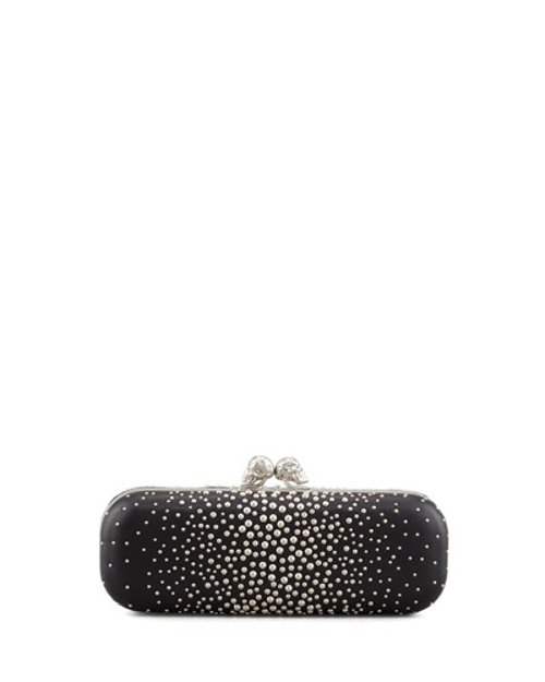 Studded Twin-Skull Box Clutch Bag by Alexander McQueen	 in Need for Speed
