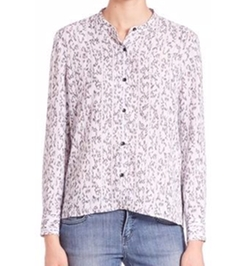 Printed Button-Front Shirt by The Kooples in Quantico