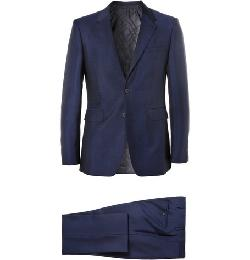 BLUE WOOL AND MOHAIR-BLEND SUIT by BURBERRY LONDON in Transcendence