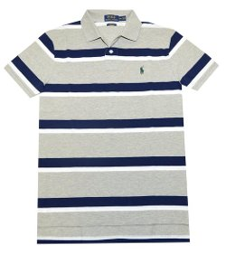 Men's Custom Fit Striped Polo Shirt by Polo Ralph Lauren in The DUFF