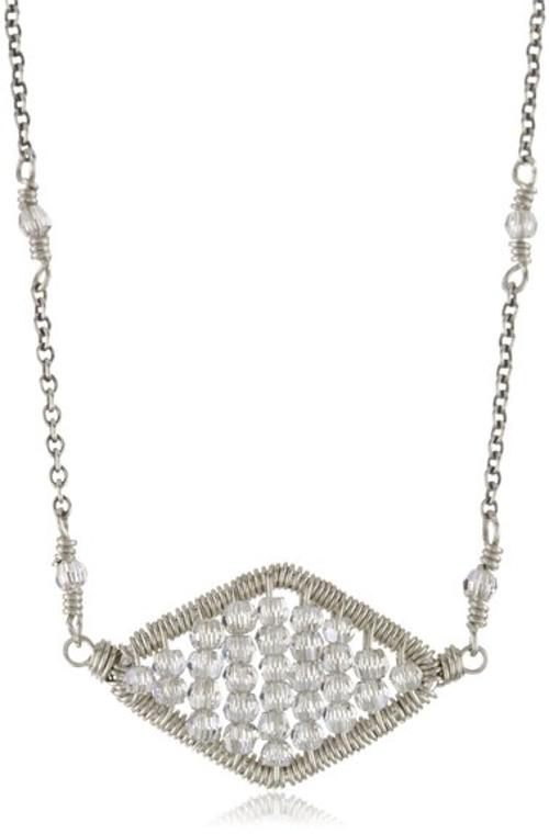 Elegant Art Deco Diamond-Shaped Pendant Necklace by Dana Kellin in Silver Linings Playbook