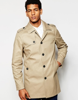 Trench Coat by Selected Homme in Arrow