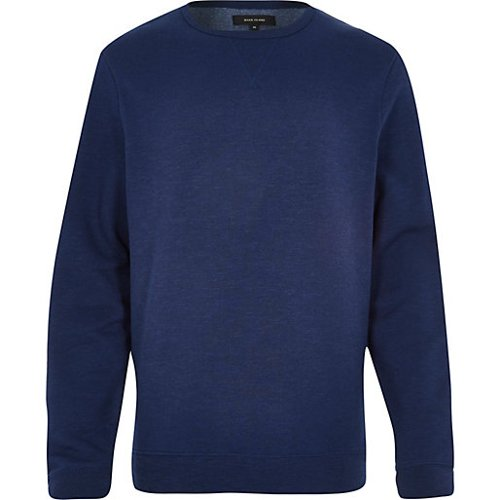Space Dye Long Sleeve Sweatshirt by River Island in Birdman