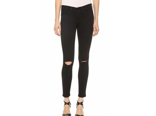 Le Skinny Satine Ripped Jeans by Frame in Keeping Up With The Kardashians - Season 12 Episode 16