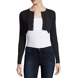 Cropped Button-Front Cardigan by Milly in Designated Survivor