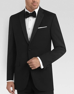 Black Slim Fit Tuxedo by Black By Vera Wang in Ted 2