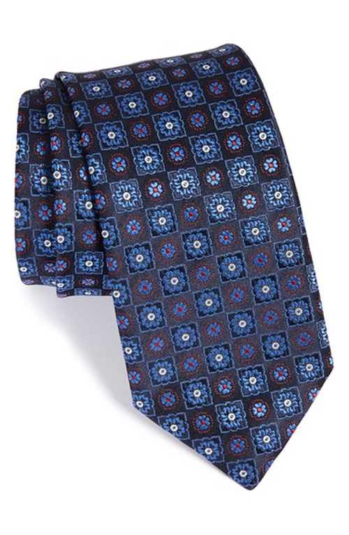 Medallion Silk Tie by Canali in Scandal - Season 5 Episode 7