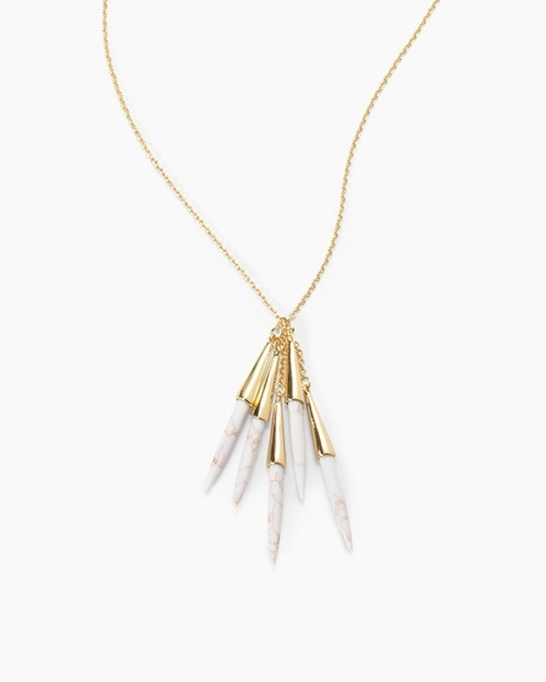 Capped Spikes Necklace by White House Black Market in American Housewife - Season 1 Preview