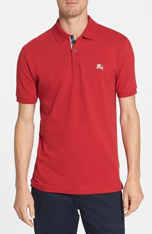 Modern Fit Piqué Polo by Burberry Brit in Blow