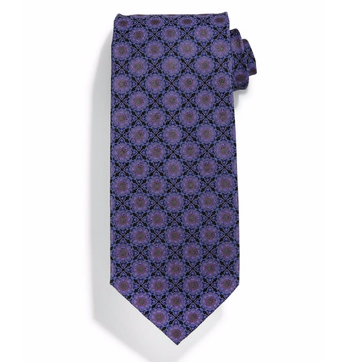Square Medallion-Print Silk Tie by Stefano Ricci in Ballers - Season 2 Episode 5