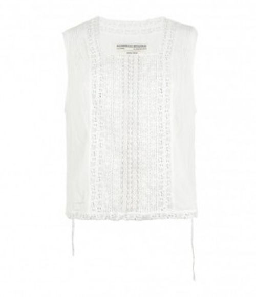 Apron Lace Bib Top by All Saints in Pretty Little Liars