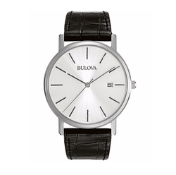 Croc Embossed Leather Strap Watch by Bulova in La La Land