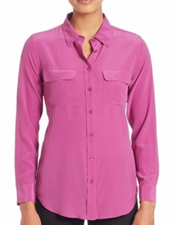 Slim Signature Silk Shirt by Equipment in Lethal Weapon