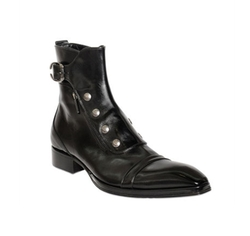Polished Leather Ankle Boots by Jo Ghost in Shadowhunters