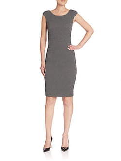 Cap-Sleeve Tweed Dress by Armani Collezioni in Suits