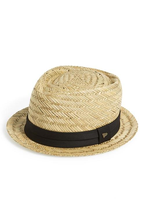 'EK - Abbott' Straw Trilby by New Era Cap in Unbroken