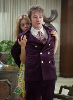 Custom Made Double-Breasted 60s-Era Plum Suit by Mark Bridges (Costume Designer) in Inherent Vice