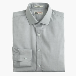 Ludlow Solid Shirt by Thomas Mason in GoldenEye