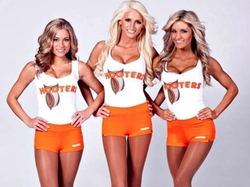 Women's Uniform Shorts by Hooters in Blended