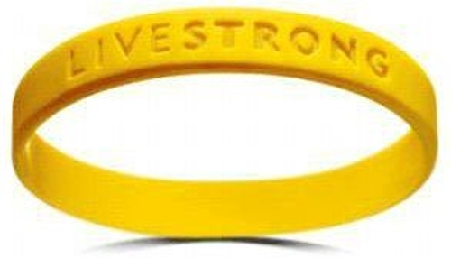 Livestrong Rubber Wristband Bracelet by Nike in Me and Earl and the Dying Girl