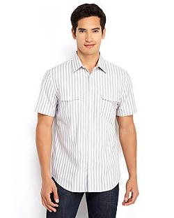 Multi Stripe Sport Shirt by Perry Ellis in No Strings Attached