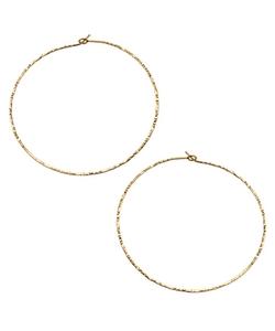 Hammered Hoop Earrings by Charlene K in Pretty Little Liars