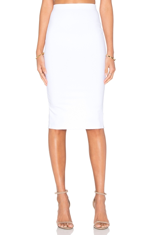 Back Slit Midi Skirt by Donna Mizani in Suits