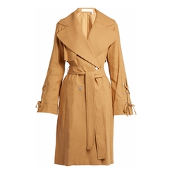 Double-Breasted Linen-Twill Trench Coat by See by Chloe in The Good Fight