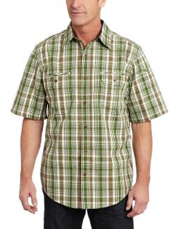 Men's Standish Plaid Short Sleeve Shirt by Carhartt in Savages