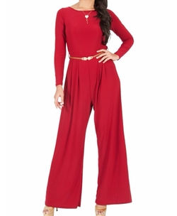 Long Sleeve Cocktail Jumpsuit by Koh Koh in New Girl