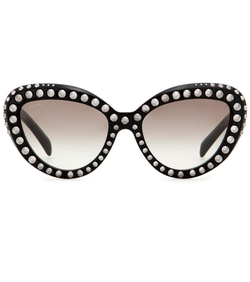 Modified Studded Cat-Eye Eyeglasses by Prada in Lady Dynamite