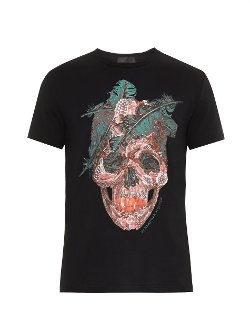 Skull Print T-Shirt by Alexander Mcqueen in Entourage