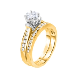 Diamond 14K Yellow Gold Bridal Set by Harmony Eternally in Love in American Sniper