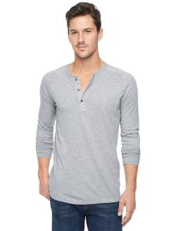 Core Jersey Long Sleeve Henley by Splendid in About Last Night